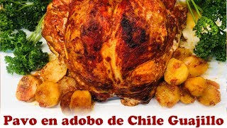 Pavo en adobo de Chile Guajillo
