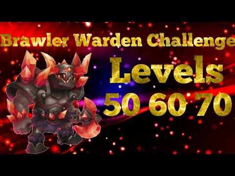 Brawler Warden Challenge | Boss Level 50, 60, And 70 | Castle Clash