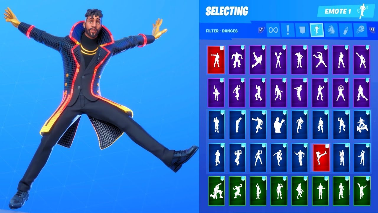 New Fortnite Yond3r Dapper Unmasked Black Skin Showcase With All Dances Emotes Season 10 Outfit