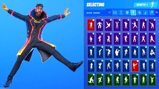 *NEW* Fortnite Yond3r Dapper Unmasked Black, Skin Showcase with All Dances & Emotes Season 10 Outfit