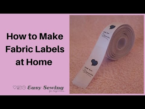 How to Make Fabric Labels at Home - YouTube