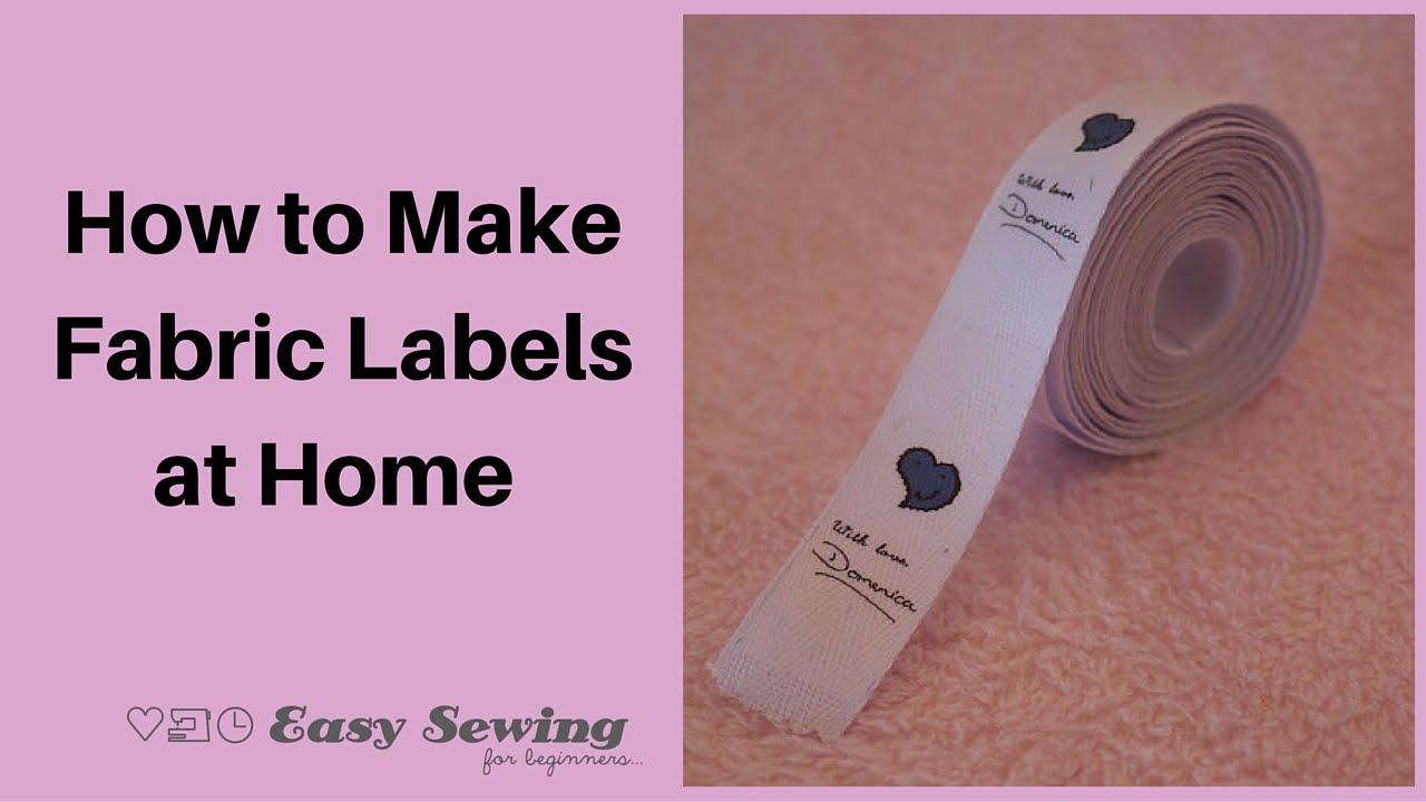 How to make fabric labels at home youtube for How to sew labels on clothes