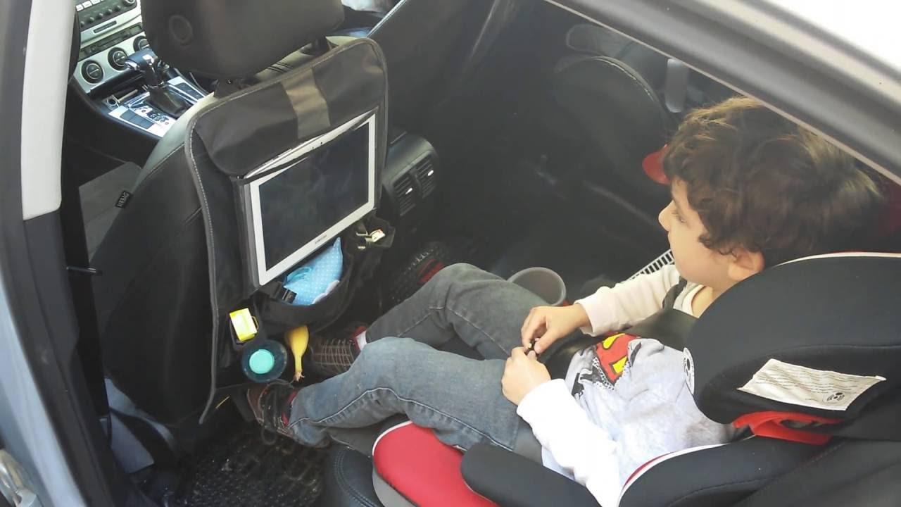 Organizador asiento trasero auto c soporte tablet bla - Soporte tablet cama ...