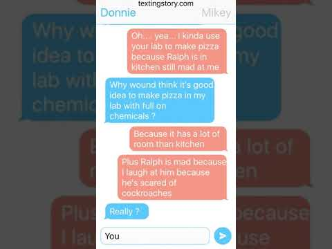 First Text Story Tmnt 2012 Donnie And Mikey Youtube