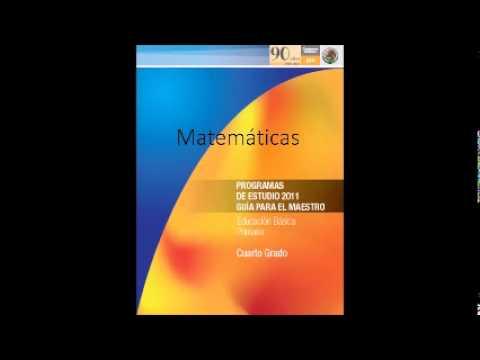 Audiolibro programas de estudio 2011 matem ticas cuarto for Cuarto de estudio