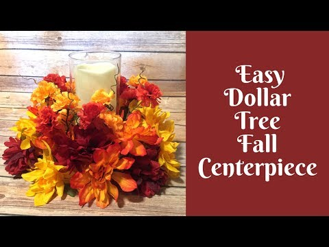 Everyday Crafting: Dollar Tree Fall Centerpiece
