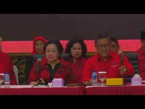 Live! Megawati Umumkan Cagub-Cawagub PDI Perjuangan