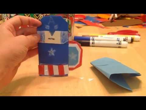 How To Make An Origami Captain America