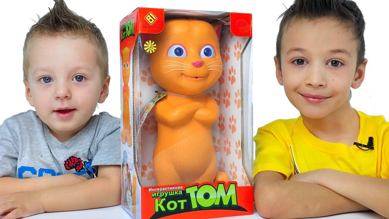 Котёнок Джинжер интерактивная игрушка для детей Kitten interactive toy for children