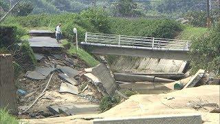 爆発・土砂崩れ・浸水…岡山の記録的豪雨 映像ドキュメント
