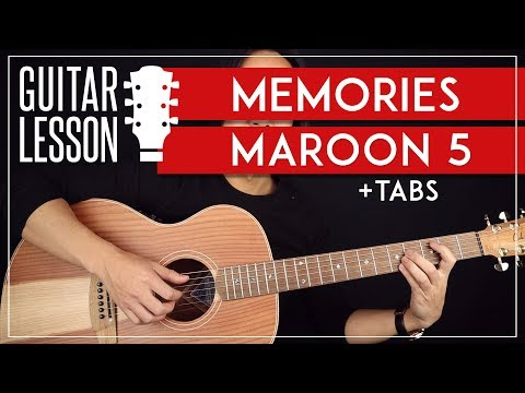 Memories Guitar Tutorial  🎸Maroon 5 Guitar Lesson |No Capo + Easy Chords|