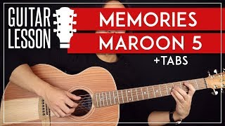 Memories Guitar Tutorial   Maroon 5 Guitar Lesson |No Capo + Easy Chords|