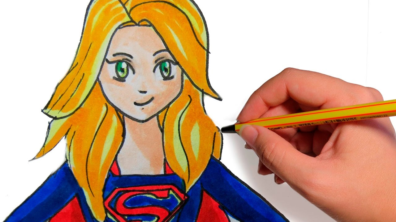 COMO DIBUJAR ANIME SUPERGIRL: Dibuja tus superheroes en manga - YouTube