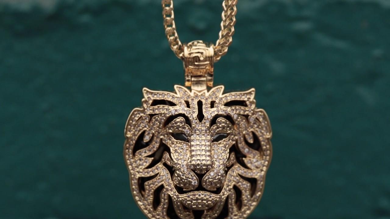 The 14k gold phantom lion necklace hip hop pendants king ice the 14k gold phantom lion necklace hip hop pendants king ice aloadofball Gallery