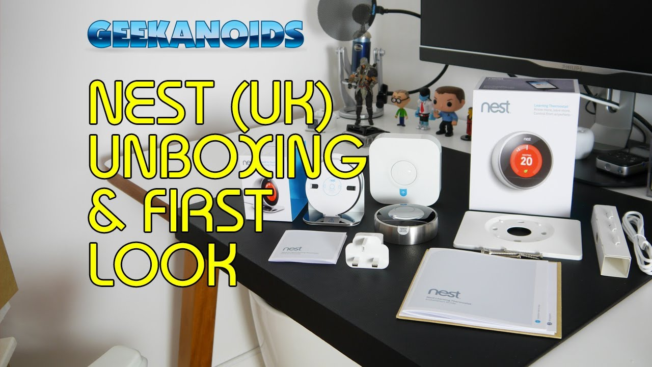 nest learning thermostat stand uk unboxing first look. Black Bedroom Furniture Sets. Home Design Ideas