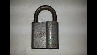 Ремонт навесного замка. Меняем секрет / Repair of a padlock.  We change the secret