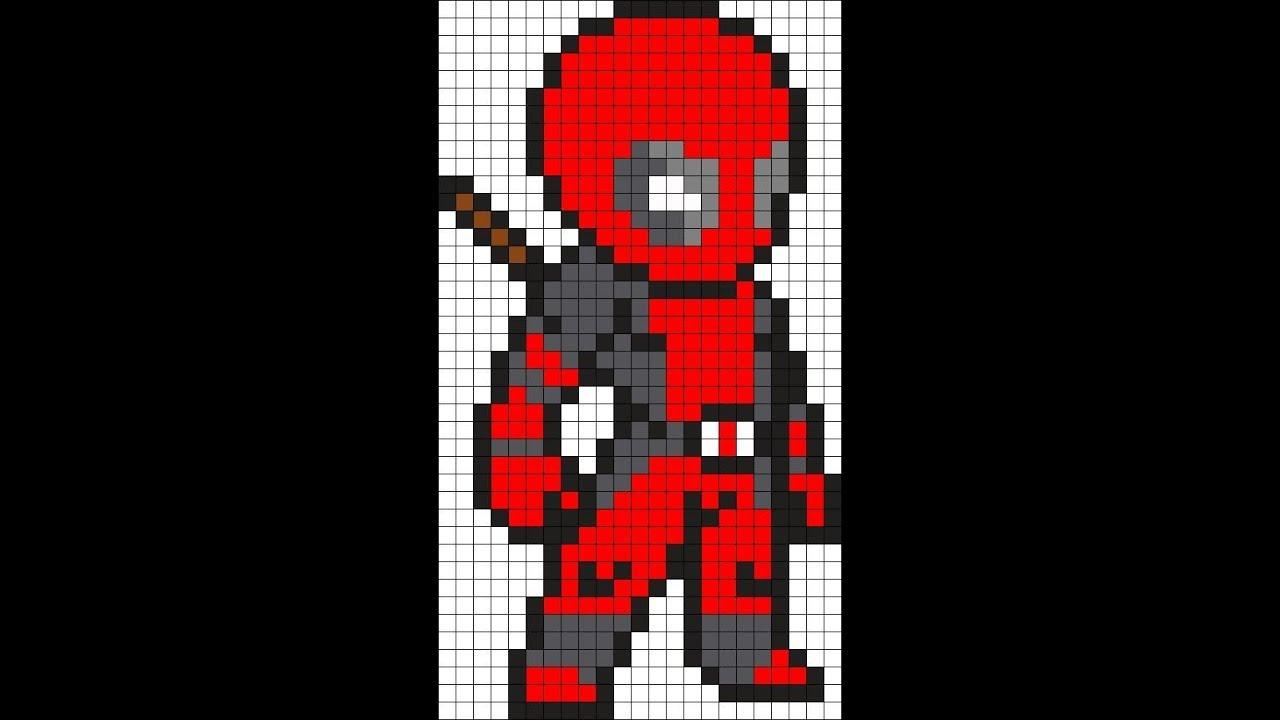 Como Dibujar A Deadpool Marvel En 8 Bits Youtube