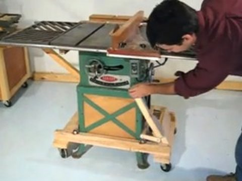 Retractable Casters For Power Tools