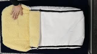 Обзор мехового конверта в коляску.