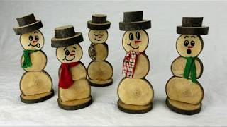 Wood Snowman Decorations | A Simple How To DIY tutorial
