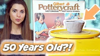 Testing a 1970s POTTERY WHEEL KIT?! - Will it work?!