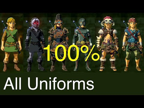 Zelda: Breath of the Wild - All Costumes (100% and Upgraded)