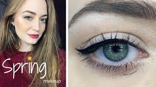 Весенний / легкий макияж пошагово / яркие губы / стрелки / видео-урок