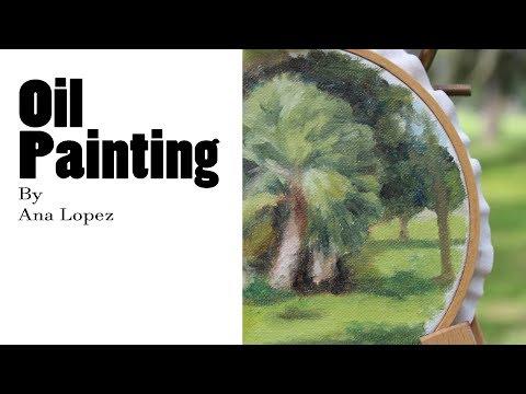 Plein Air Painting, oil on canvas