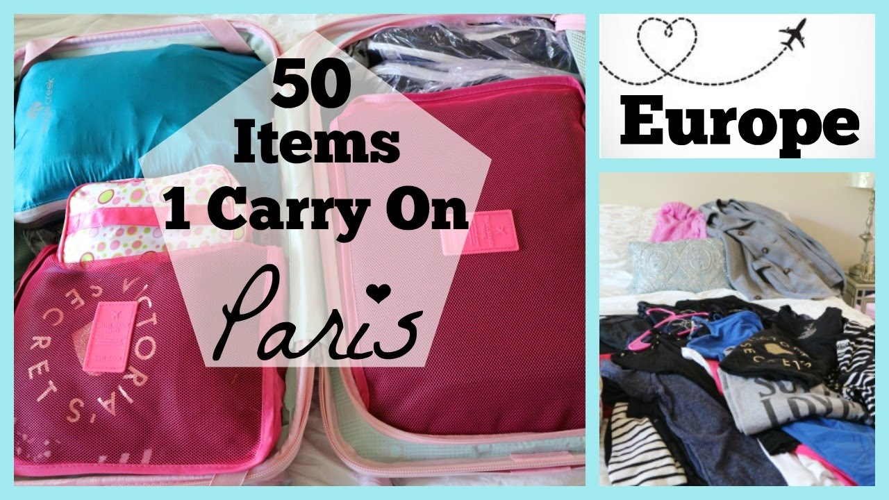 Carry On Only | 8 Days In Europe | How To Pack Light | Packing For Paris