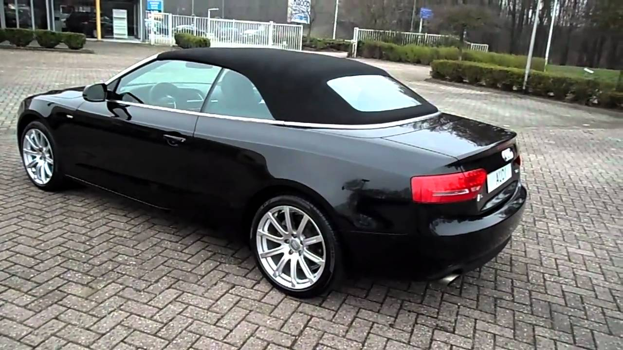 audi a5 cabrio 1 8 tfsi 160pk s line youtube. Black Bedroom Furniture Sets. Home Design Ideas