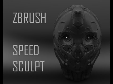 ZBrush Sci-Fi Head Sculpture