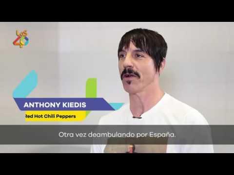 Anthony Kiedis (Red Hot Chili Peppers) - Entrevista, Los 40 Principales, España 2016