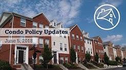 Fannie Mae (June 5, 2018) Condo Policy Changes