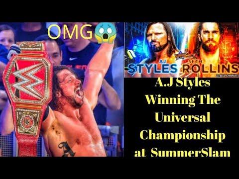 AJ Styles Winning The Wwe Universal Championship Soon? (WWE MALAYALAM NEWS HWM)
