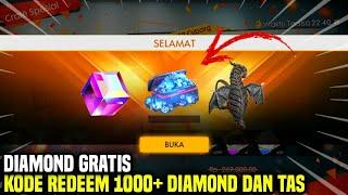 TERBONGKAR !! KODE REDEEM 1000+ DIAMOND DAN TAS | GARENA FREEFIREE