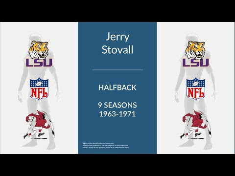 Jerry Stovall: Football Halfback and Punter