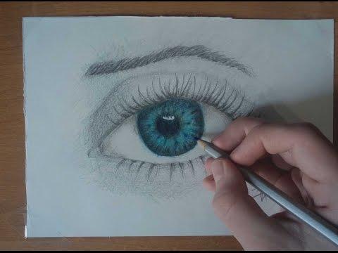 видео: how to draw a realistic eye   Как Нарисовать Реалестичный Глаз