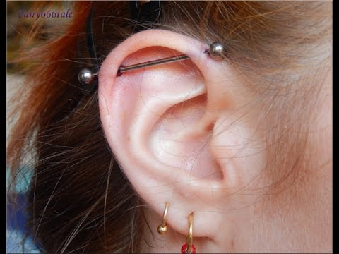 Piercings Industrial Piercing Experience And Aftercare Youtube