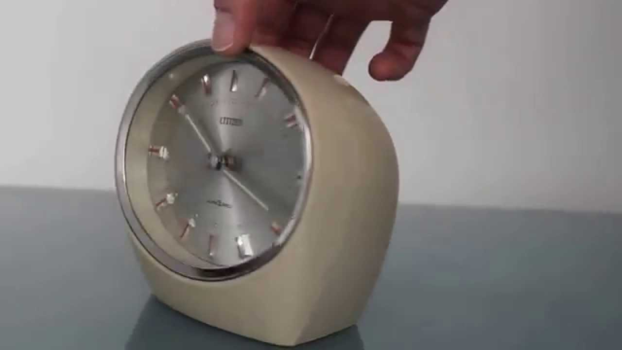 Citizen Rhythm Space Age Retro Clock Alarm Mantel Desk An 51102 Atomic