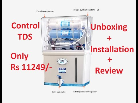 Kent Ace 8 L RO + UV + UF + TDS Water Purifier  White Unboxing & Installation || Kent Water Purifier