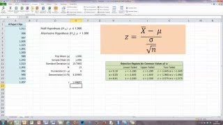 How To... Calculate a z-Score in Excel 2010