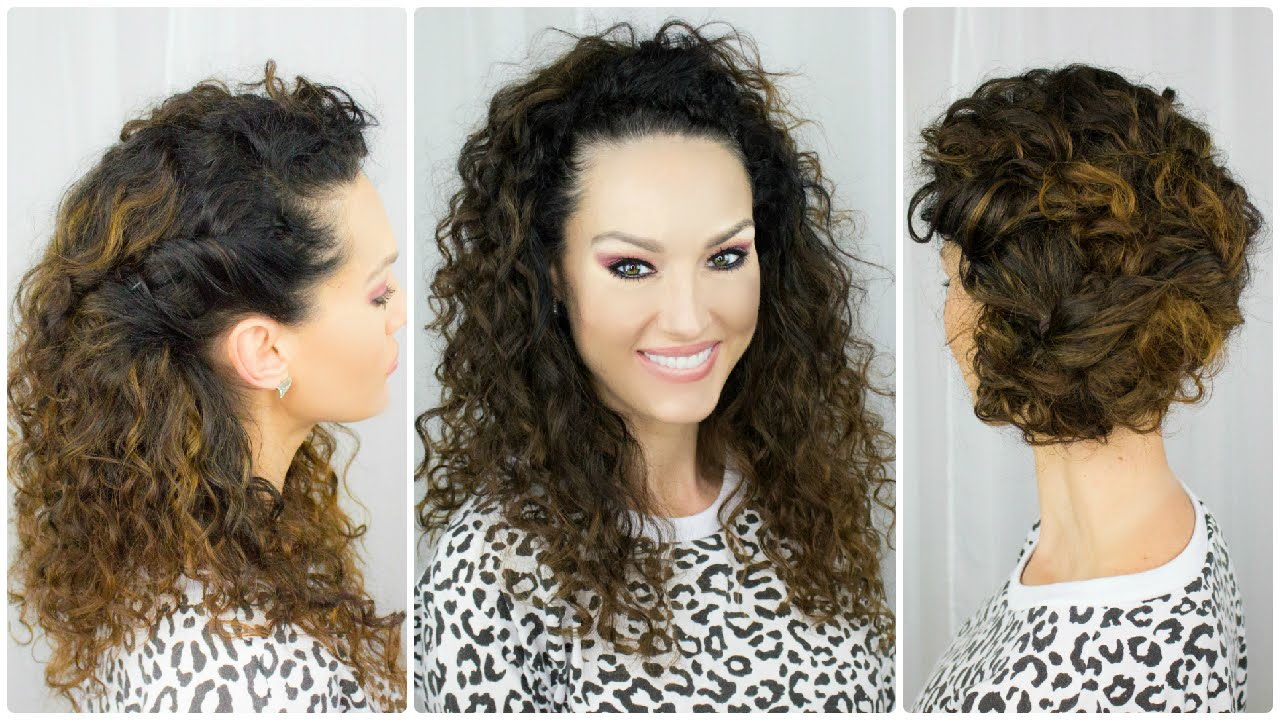 3 Quick  Easy Curly Hairstyles  YouTube
