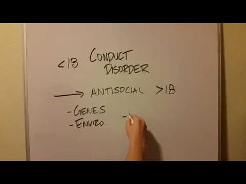 Conduct Disorder and Antisocial Personality Disorder