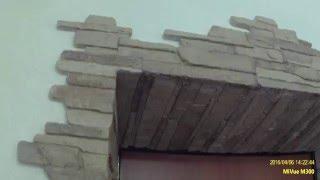 видео Отделка дверных проемов декоративным камнем