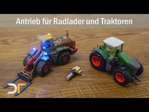 Mikromodell - Tutorial - Getriebebausatz für Traktoren, Radlader und langsame Fahrzeuge | RC 1:87
