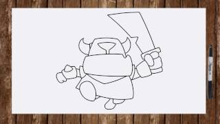 How to draw Mini PEKKA Clash Royale characters step by step