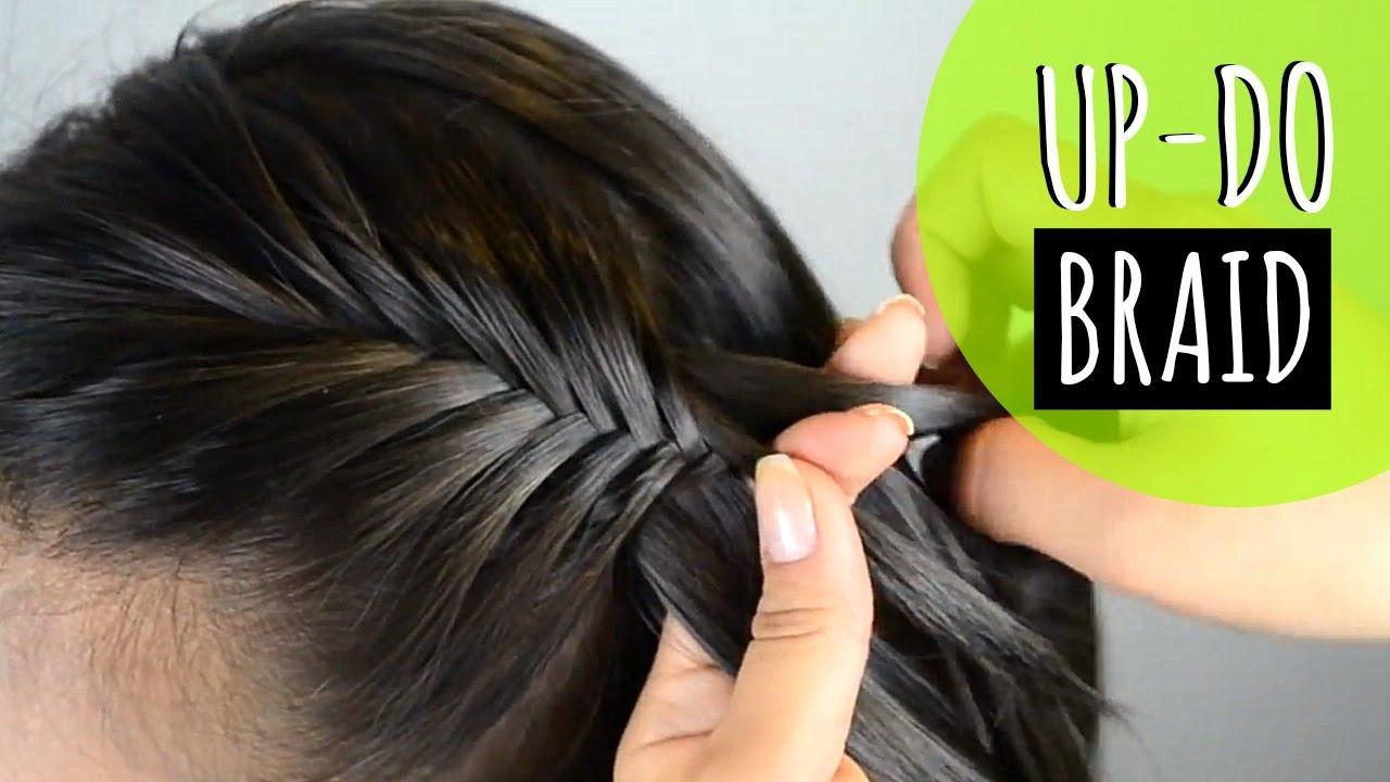 Recogido con trenza up do with a braid peinados faciles - Peinados recogidos con trenzas ...
