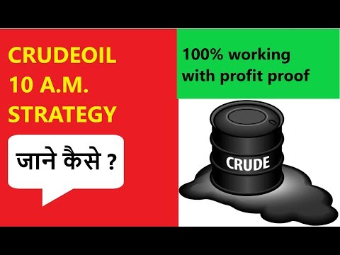 crude oil commodity trading | crude oil 100% risk free trading| crude oil scanner