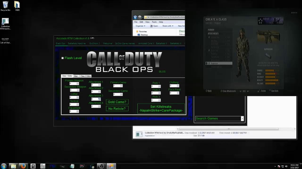 BlackOps1 RTM tool 1 13 v1 0 Demo - Class 1 Editor - 4 Attachments -  Killstreaks mod