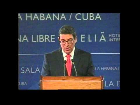 Conferencia de prensa del Ministro de Relaciones Exteriores de Cuba, Bruno Rodríguez Parrilla